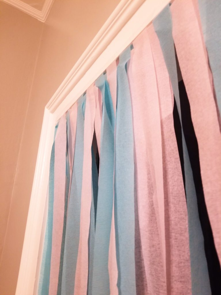 crepe paper curtain